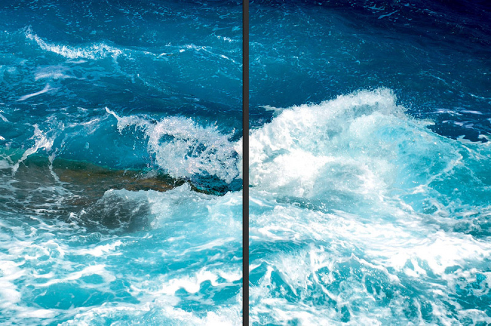 Waves_02 - Diptych on plexi